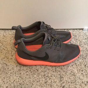 Nike Roshe. Men's 10. Mango/Gray. Worn. No box.